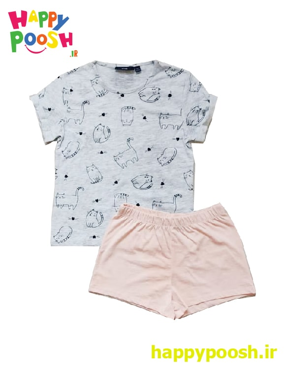 ست دو تکه تی شرت و شلوارک برند کیابی در 5 سایز متنوع