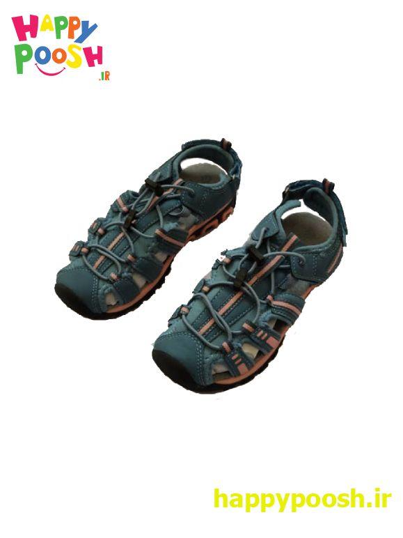 کفش تابستانی اورجینال ساخت آلمان رنگ آبی گلبهایی
