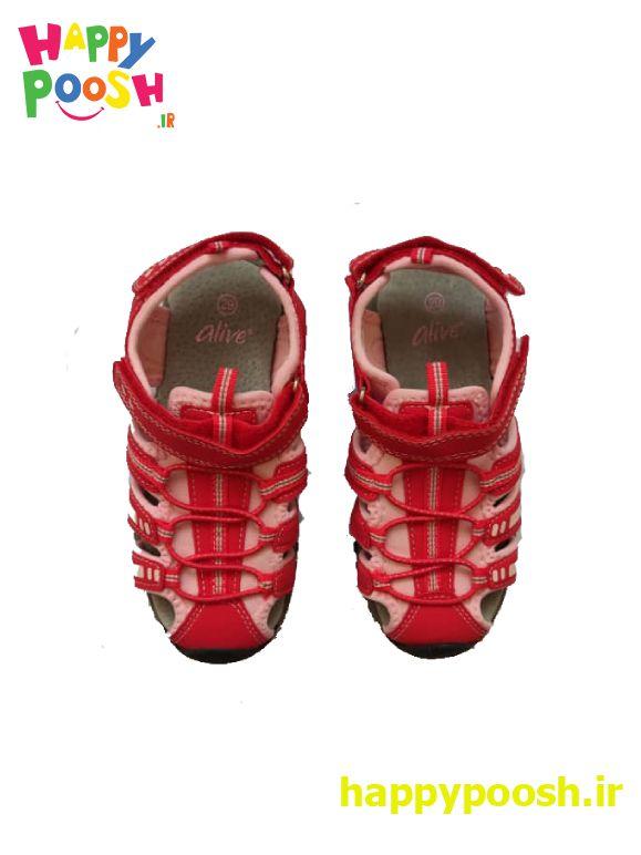 کفش تابستانی اورجینال ساخت آلمان رنگ قرمز گلبهایی