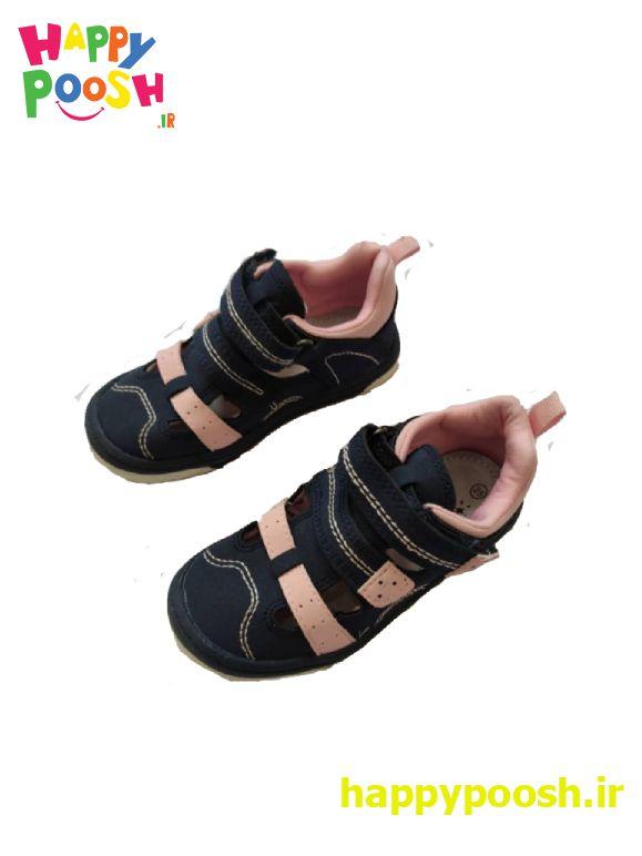 کفش جلوبسته تابستانی سورمه ای و صورتی اورجینال ساخت آلمان رنگ صورتی و سرمهایی