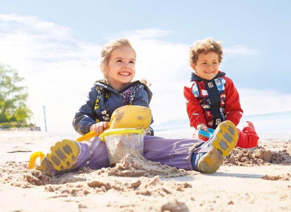 Girl and boy on the beach